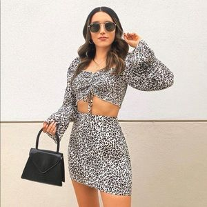 Windsor leopard print top and skirt
